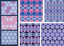 A set of seamless background and textile patterns. Royalty Free Stock Image