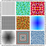 Set of seamless background vector patterns Royalty Free Stock Photos
