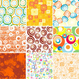 Set SEAMLESS backgrounds. Stock Photos
