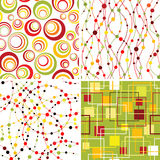 Set of seamless backgrounds. Set of seamless geometic backgrounds Royalty Free Stock Image