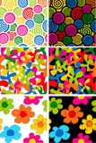 Set of seamless backgrounds royalty free illustration
