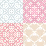 Set of seamless backgrounds Stock Images