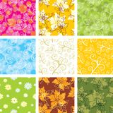 Set of seamless backgrounds stock photography