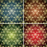 Set of seamless backgrounds Royalty Free Stock Photo