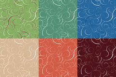 Set of seamless backgrounds stock image