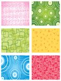 Set seamless backgrounds Stock Photo