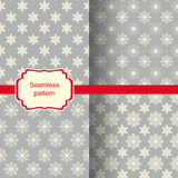 Set of seamless backgrounds with Christmas pattern Royalty Free Stock Photos