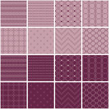 Set of 16 seamless  backgrounds with decorative geometric shapes Stock Images