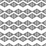Set of 16 seamless  backgrounds with decorative geometric shapes Stock Image