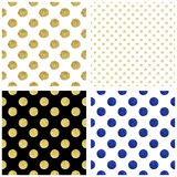 Set of seamless backgrounds with dots Stock Photography