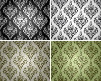 Set of seamless backgrounds with floral pattern 2 Royalty Free Stock Photography