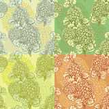 Set of seamless backgrounds - Floral Seamless Pattern Royalty Free Stock Image