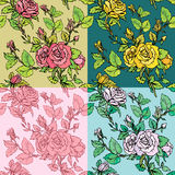 Set of seamless backgrounds - Floral Seamless Pattern Stock Photography