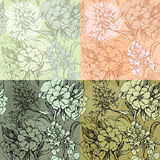 Set of seamless backgrounds - Floral Seamless Patternhand Stock Images