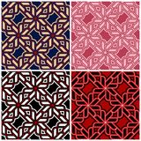 Set of seamless backgrounds with geometric patterns. For wallpapers, textile and fabrics Royalty Free Stock Image