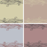 Set of seamless backgrounds Royalty Free Stock Photography