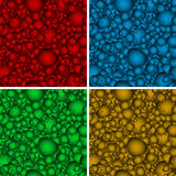 Set of seamless backgrounds with multicolored hear Stock Photography
