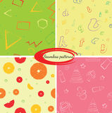 Set of seamless backgrounds for packaging or congratulations Royalty Free Stock Photography