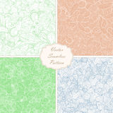 Set of seamless backgrounds. Set of papers for scrapbook or pack. Vector seamless backgrounds Royalty Free Stock Photography