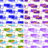 Set of seamless backgrounds of rectangles Stock Image