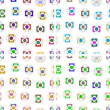 Set of seamless backgrounds of rectangles and oval. Set of seamless backgrounds of colored rectangles and oval on white royalty free stock photo