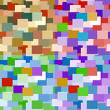 Set of seamless backgrounds of rectangulars Stock Image