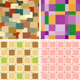 Set of seamless backgrounds of rectangulars Royalty Free Stock Image