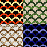 Set of seamless backgrounds in Victorian style Stock Images