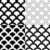 Set of seamless backgrounds in Victorian style.  Stock Photography