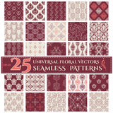 Set of Seamless Backgrounds with Vintage Floral Royalty Free Stock Photo