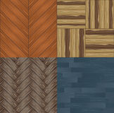 Set of seamless backgrounds a wooden parquet Royalty Free Stock Photography