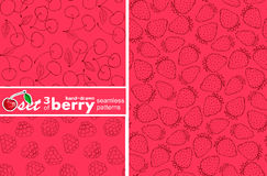 Berry patterns Royalty Free Stock Photography