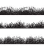 Set seamless black and white borders with pencil strokes. Royalty Free Stock Image