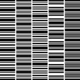 Set of seamless black white horizontal stripes stock illustration