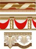 Set of seamless borders Royalty Free Stock Photos