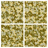 Set of seamless camouflage pattern Stock Photography