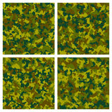 Set of seamless camouflage pattern Stock Photo