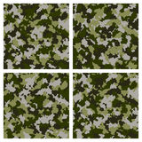 Set of seamless camouflage pattern Royalty Free Stock Image