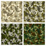 Set of seamless camouflage pattern. Vector-Illustration Royalty Free Stock Photography