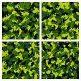 Set of seamless camouflage pattern Stock Photos