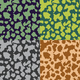 Set of  seamless camouflage patterns Stock Images