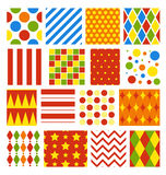 Set of Seamless Carnival Circus Festive Patterns. Set of Seamless Carnival Circus Bright Festive Patterns Royalty Free Stock Photos
