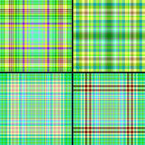 Set seamless cell background. Set green seamless a background Royalty Free Stock Photography