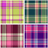 Set of seamless checkered plaid pattern Royalty Free Stock Photos