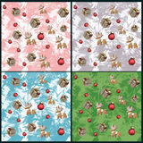 Set of 4 seamless Christmas background Royalty Free Stock Photography