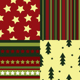 A set of seamless Christmas patterns Royalty Free Stock Photography