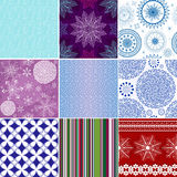 Set seamless christmas patterns Royalty Free Stock Images