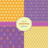 Set of seamless Christmas patterns Royalty Free Stock Images