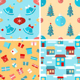 Set of seamless Christmas patterns Stock Photography