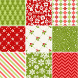 Set of seamless christmas patterns. Set of seamless patterns - New Year and Christmas Royalty Free Stock Photos